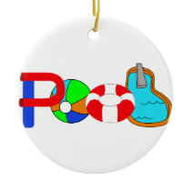 Swimming Pool Ceramic Ornament