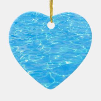 Swimming pool ceramic ornament