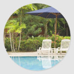 Swimming pool classic round sticker