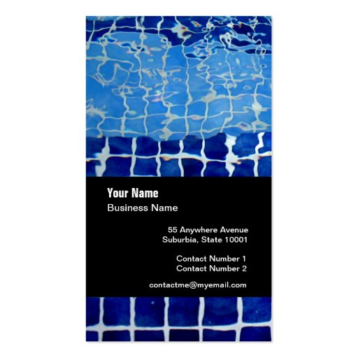 Swimming pool company template business card zazzle for Pool company business cards