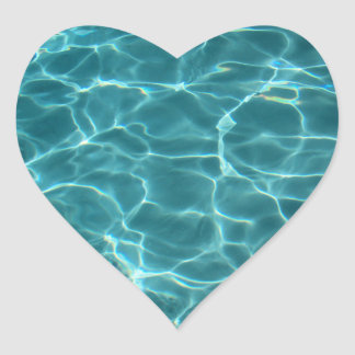 Swimming Pool Heart Sticker