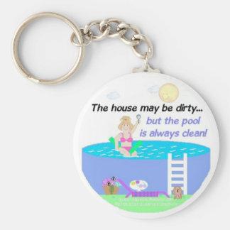 Swimming Pool Humor Basic Round Button Keychain