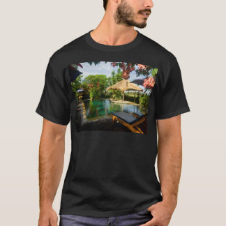 Swimming pool in a tropical resort T-Shirt