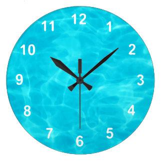 Swimming Pool. Large Clock
