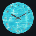"Swimming Pool. Large Clock<br><div class=""desc"">A coll pool timepiece.</div>"