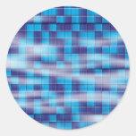 Swimming Pool Mosaic Classic Round Sticker