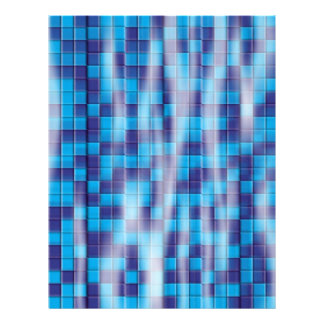 Swimming Pool Mosaic Letterhead Design
