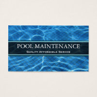 Swimming Pool Photo - Business Card