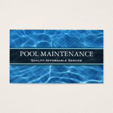 Swimming Pool Photo - Business Card at Zazzle