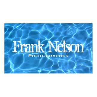 Swimming Pool Profile Card Double-Sided Standard Business Cards (Pack Of 100)