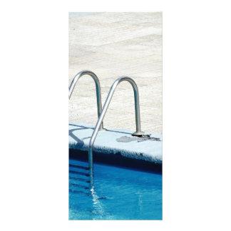 Swimming pool customized rack card