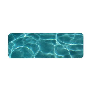 Swimming Pool Return Address Label