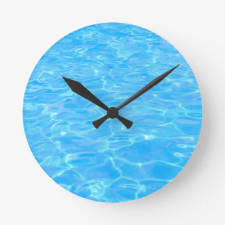 Swimming pool round clock