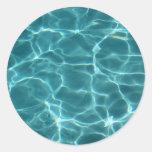 Swimming Pool Round Sticker