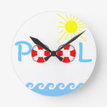 Swimming Pool Round Wall Clock
