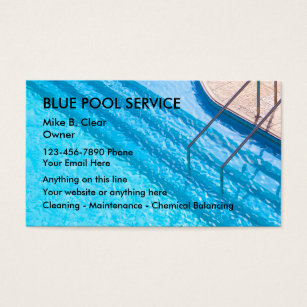 Pool service business cards templates zazzle swimming pool service business cards colourmoves Choice Image