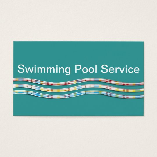 Swimming Pool Maintenance Service 91786 : Swimming pool service business cards zazzle