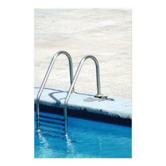 Swimming pool customized stationery