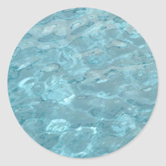 Swimming Pool Summer Abstract Classic Round Sticker