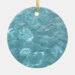 Swimming Pool Summer Abstract Christmas Tree Ornaments