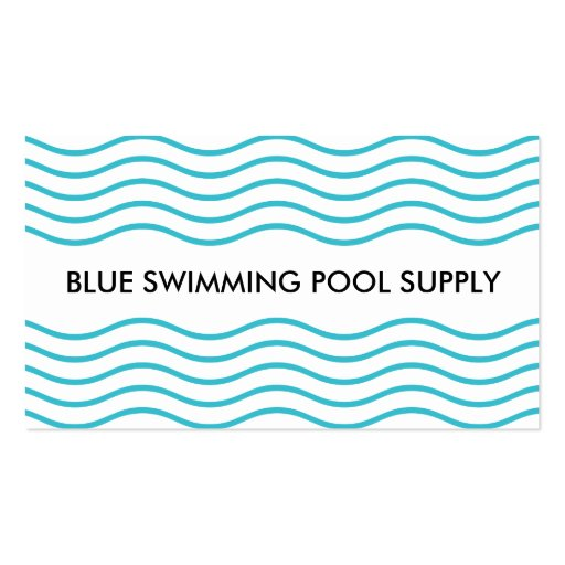 Swimming Pool Supply Business Card Zazzle