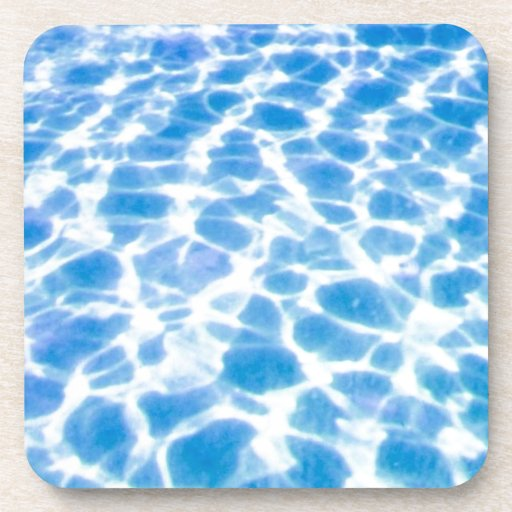 Swimming Pool Surface Beverage Coasters
