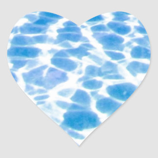 Swimming Pool Surface Heart Sticker