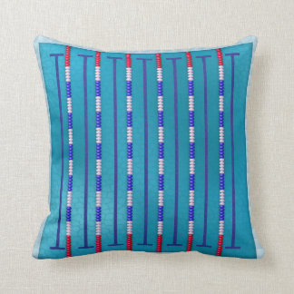 Swimming Pool Swimmer Throw Pillow