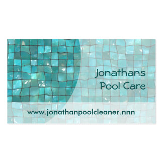 Swimming pool tiles Double-Sided standard business cards (Pack of 100)