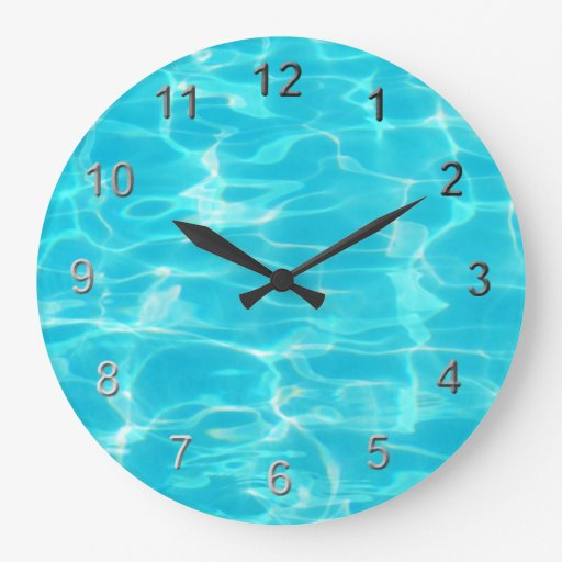 swimming pool wallclock zazzle