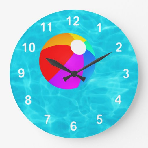 swimming pool wallclocks zazzle