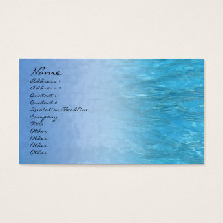 Swimming Pool Water Profile Card