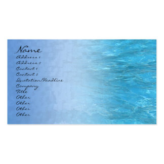 Swimming Pool Water Profile Card Double-Sided Standard Business Cards (Pack Of 100)