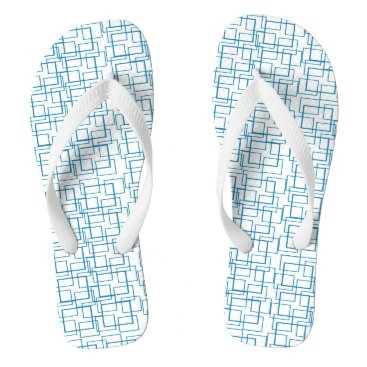 Beach Themed Swimming Pool Water Reflection Blue White Summer Flip Flops