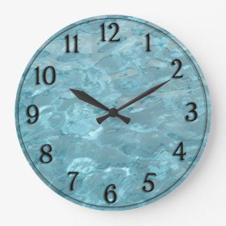 Swimming Pool Water - Summer Abstract Large Clock