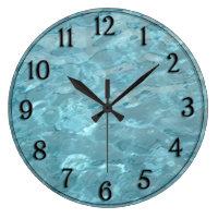 Swimming Pool Water - Summer Fun Abstract Large Clock