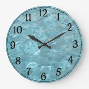 NancyTrippPhotoGifts Swimming Pool Water - Summer Fun Abstract Large Clock