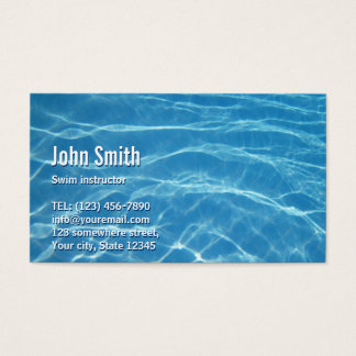 Swimming Pool Water Swim Instructor Business Card
