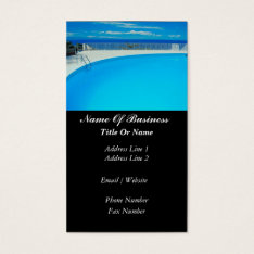 Swimming Pools Business Card at Zazzle