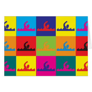 Swimming Pop Art Card