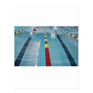 swimming postcard