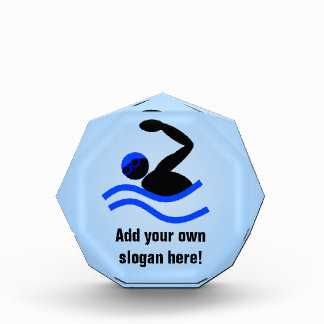Swimming Prize - Add Caption to this Swimmer Logo Award