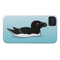 Swimming Razorbill, breeding Case-Mate iPhone 4 Barely There Universal Case