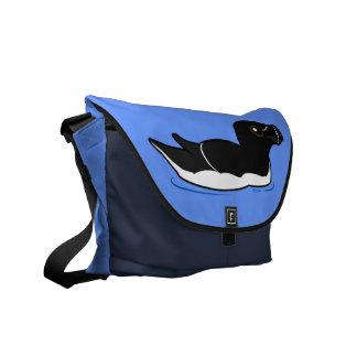 Swimming Razorbill, alternate Courier Bag