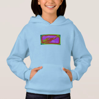 swimming red mermaid hoodie