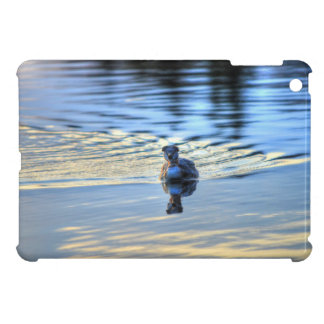 Swimming Red-necked Grebe Wildlife Birdlover Photo Cover For The iPad Mini