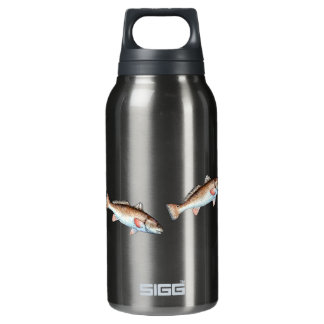 Swimming Redfish Insulated Water Bottle