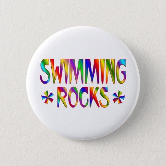 SWIMMING ROCKS PINBACK BUTTON