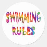 Swimming Rules Classic Round Sticker