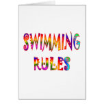 Swimming Rules Greeting Cards